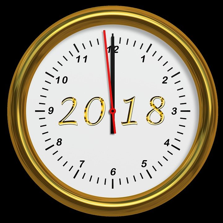 Reloj marcando casi las 12 de la noche