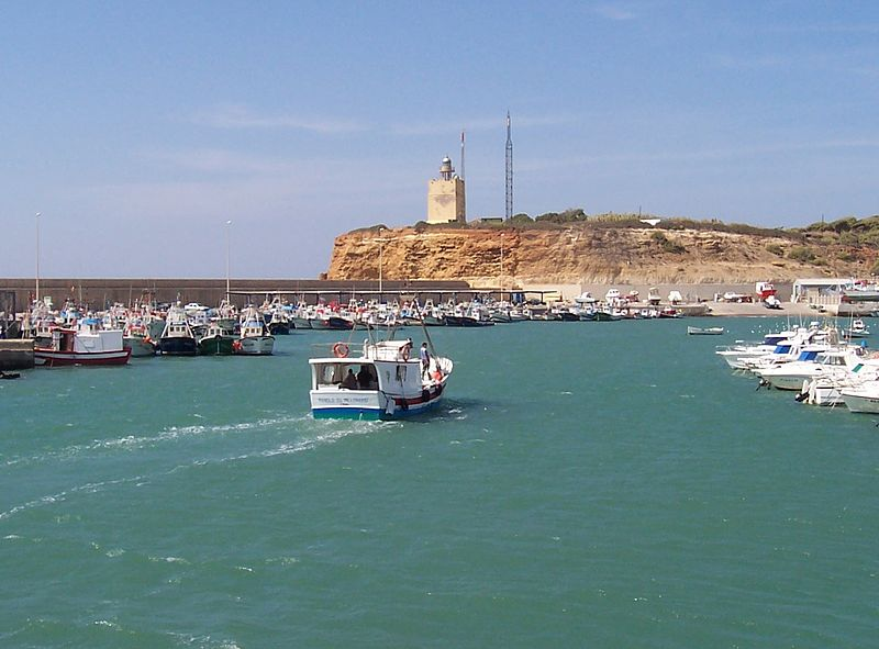 Faro y puerto de Conil