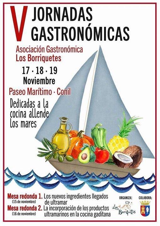 Cartel de las V Jornadas Gastronómicas