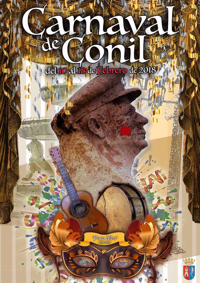 Cartel del carnaval de Conil de 2018