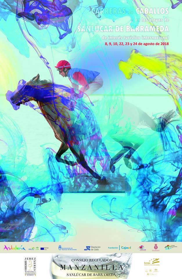 Cartel de las carreras de caballos