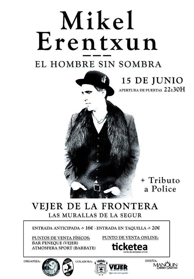 Cartel del concierto de Mikel Erentxun