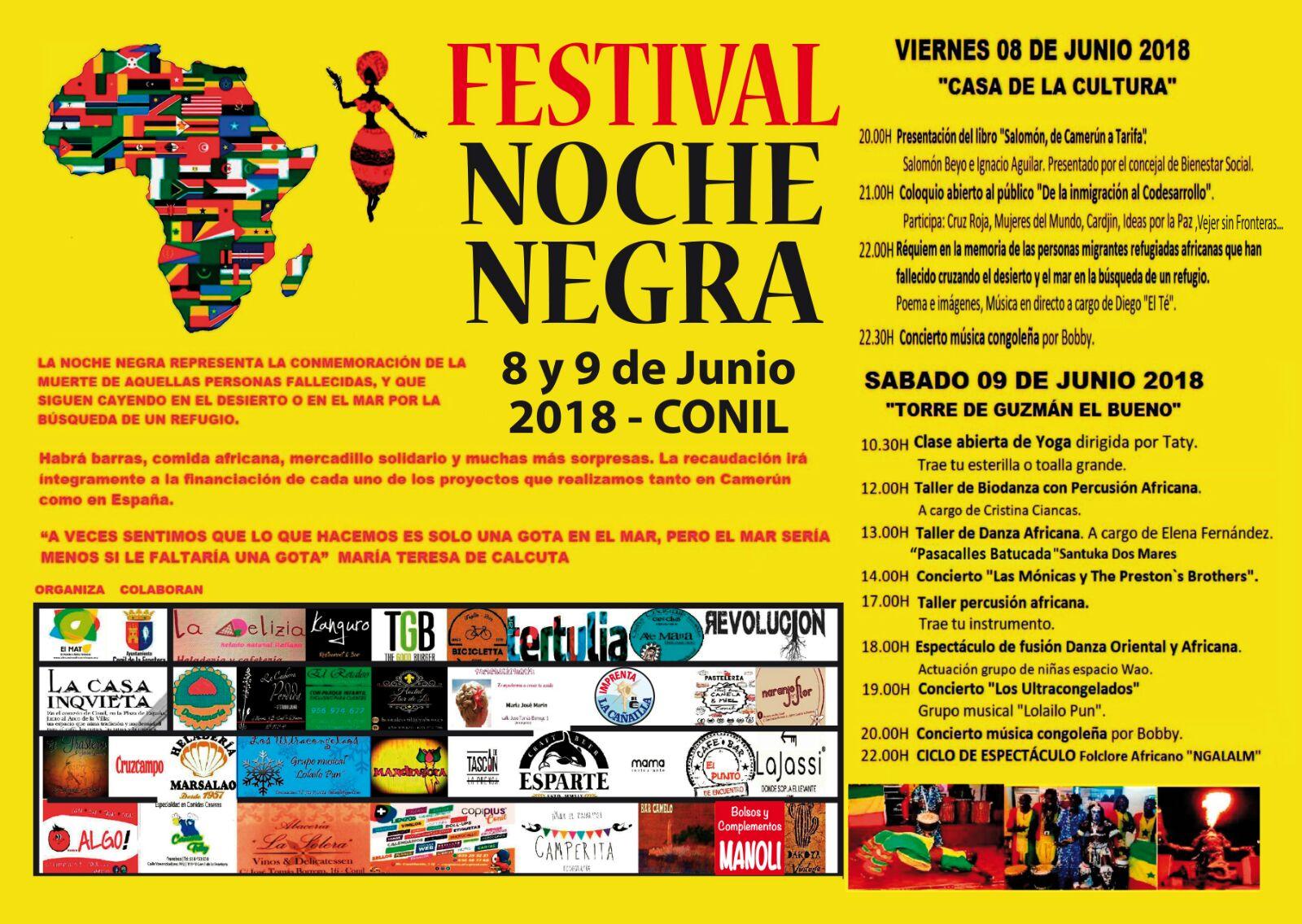 Cartel del Festival Noche Negra