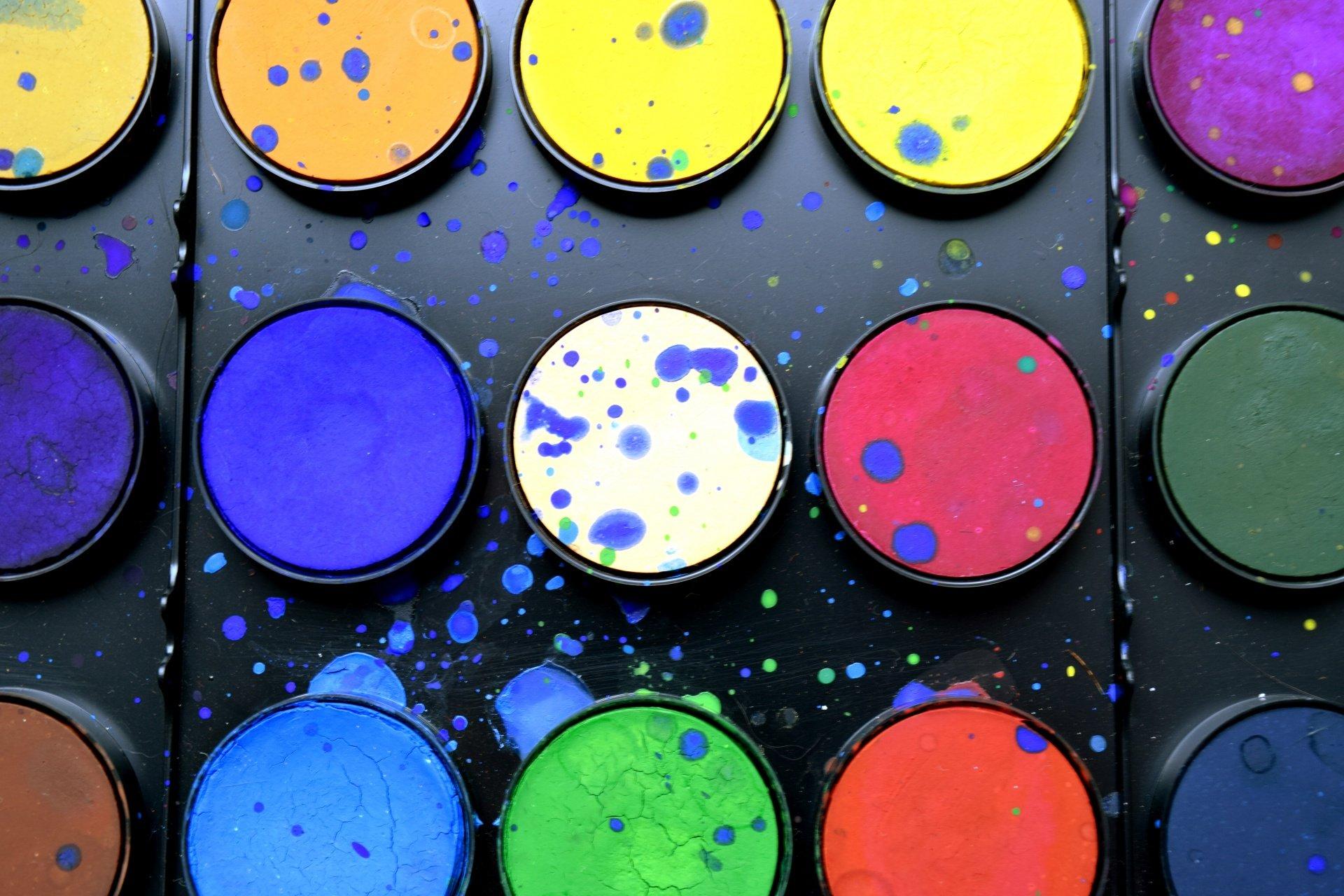 Acuarelas de colores