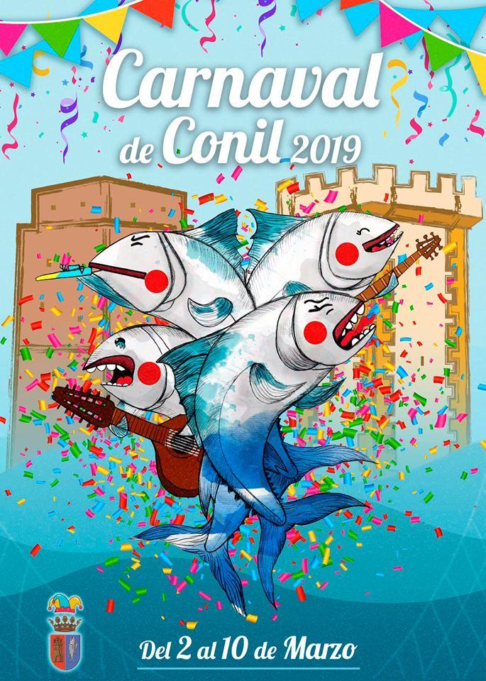 Cartel del carnaval de Conil 2019