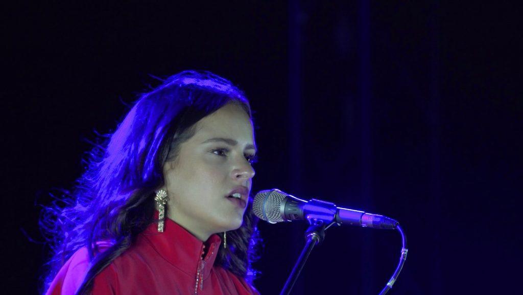 Rosalía en concierto