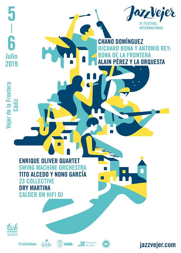 Cartel del Festival de Jazz en Vejer 2019