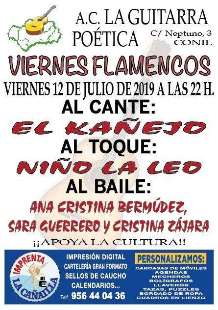 Cartel del espectáculo de flamenco